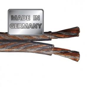 """כבל לרמקולים איכותי מנחושת טהורה וכסף בעובי 1.5 מ""""מ בצבע שקוף מבית HAMA גרמניה MADE IN GERMANY"""