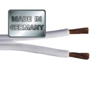 """כבל לרמקולים איכותי מנחושת טהורה בעובי 2.5 מ""""מ בצבע לבן מבית HAMA גרמניה MADE IN GERMANY"""
