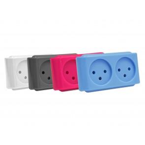 מפצל חשמל ישיר בעל 2 יציאות במגוון צבעים
