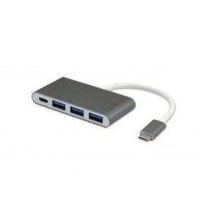 מתאם  USB TYPE C 3.1 זכר ל 3 כניסות USB3.0 + כניסה USB TYPE C