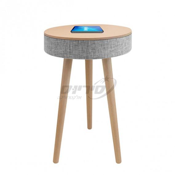 שולחן מעוצב עם רמקול בלוטוס ועמדת טעינה אלחוטית - PURE ACOUSTICS - סיריוס אלקטרוניקה BL-301