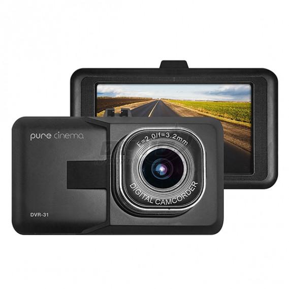 """מצלמת דרך לרכב עם מסך """"2.2 - PURE CINEMA סיריוס אלקטרוניקה DVR-31"""