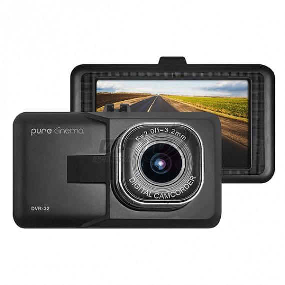"""מצלמת דרך לרכב רכב עם מסך """"3 וחיישן G - PURE CINEMA סיריוס אלקטרוניקה DVR-32"""