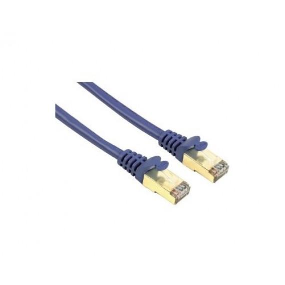 כבל רשת מסוכך צבע כחול באורך 3 מטר CAT-5e להעברת תקשורת ונתונים דגם: 46714