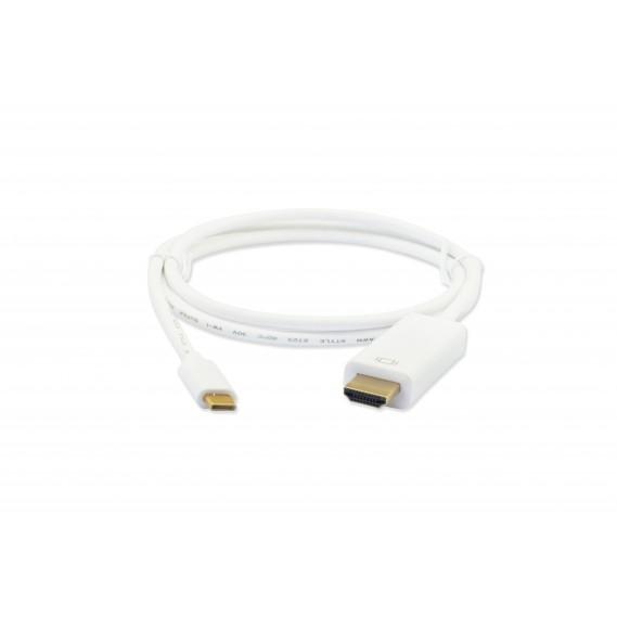 מתאם  USB TYPE C 3.1 זכר ל HDMI מוגבר זכר 4K