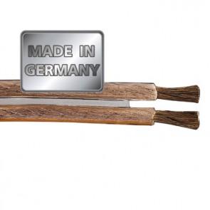 """כבל לרמקולים איכותי מנחושת טהורה בעובי 1.5 מ""""מ בצבע שקוף מבית HAMA גרמניה MADE IN GERMANY"""