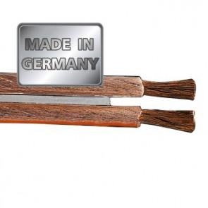 """כבל לרמקולים איכותי מנחושת טהורה בעובי 4 מ""""מ בצבע שקוף מבית HAMA גרמניה MADE IN GERMANY"""