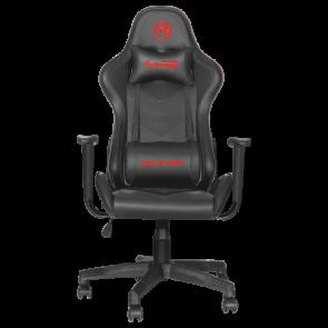 כיסא גיימינג מעור סינטטי מעוצב ומאובזר כולל אפשרות שכיבה