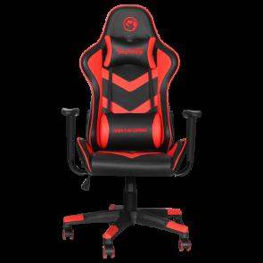 כיסא גיימרים איכותי מבית Marvo - כיסא גיימינג מעור סינטטי מעוצב ומאובזר כולל אפשרות שכיבה