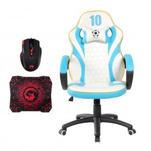 כיסא גיימינג איכותי ונוח לישיבה ממושכת מושלם לגיימרים מבית Spider + עכבר ופד מתנה