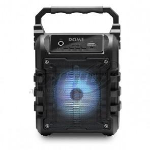 בידורית קריוקי בלוטוס ניידת עם תאורת דיסקו מבית DOME