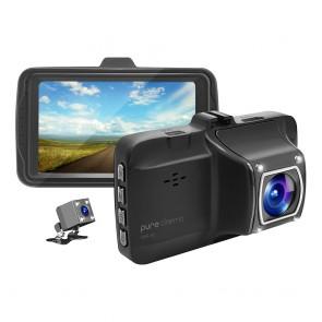מצלמת רכב בעלת 2 עדשות צילום ותאורת לילה בצילום רחב 140 מעלות