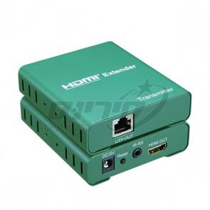HDMI EXTENDER - מאריך טווח HD  על גבי כבל רשת CAT5 עד 50 מטר, תומך 4K כולל עינית לשלט IR - SOFLY