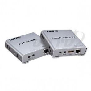 HDMI EXTENDER - מאריך טווח HD  על גבי כבל רשת CAT5 עד 50 מטר, כולל אפשרות LOOP ,עינית לשלט IR ו EDID - SOFLY