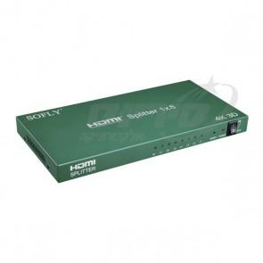 מפצל HDMI 4K מקצועי - כניסה אחת ל 8 יציאות - SOFLY