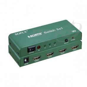 מפצל HDMI 4K מקצועי - כניסה אחת ל 3 יציאות - SOFLY
