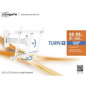 מתקן תליה דו מפרקי למסכי LED/LCD/PLASMA  צבע לבן דגם : WALL-2225 תוצרת VOGELS הולנד