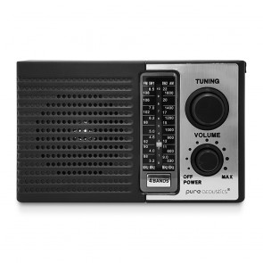 PURE ACOUSTICS רדיו נייד FM/AM עם סוללה נטענת
