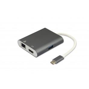 מתאם  USB TYPE C 3.1 זכר ל- 4 חיבורים