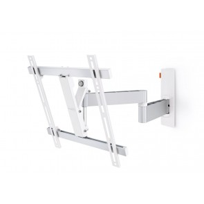 זרוע מסתובבת תלת מפרקית למסכי LED/LCD/PLASMA צבע לבן