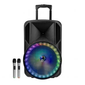 רמקול נייד עם וופר ''12 ותאורת לד RGB מרהיבה