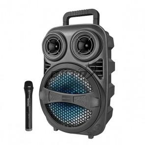 בידורית קריוקי ניידת TWS רמקול עם תאורת דיסקו ומיקרופון אלחוטי