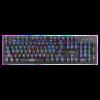 מקלדת גיימינג מכנית מקצועית עם תאורת לד צבעונית